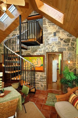 Old english stone cottage for sale acres blue ridge for Homes for sale with hidden rooms